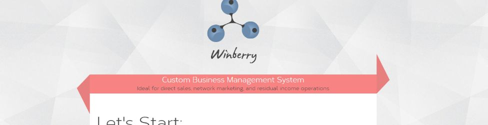 Winberry custom business management platform for multi level marketing companies