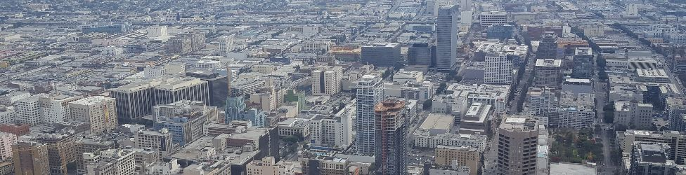 View of downtown Los Angeles from City Club LA