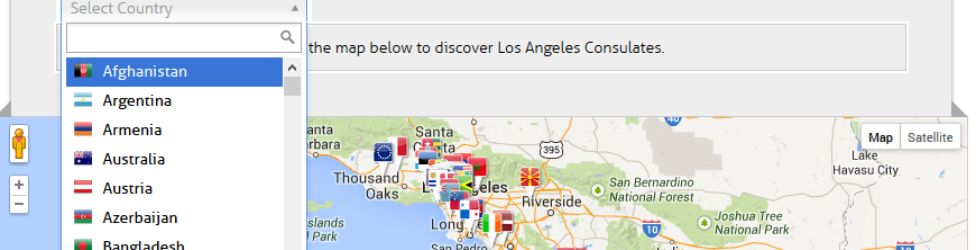 Custom website and application for Los Angeles Consular Corps LACC