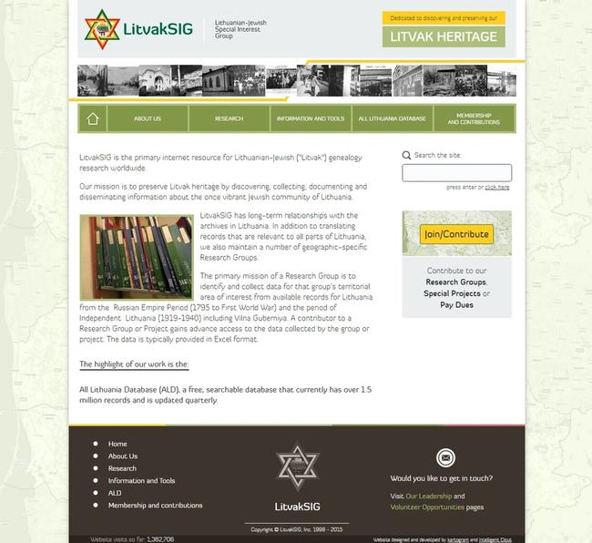 new design of LitvakSIG Jewish genealogy