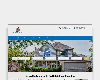 Amber Realty, customized Wordpress website