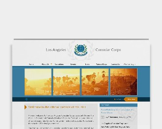 Custom website for Los Angeles Consular Corps