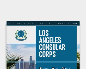 Los Angeles Consular Corps web design and development