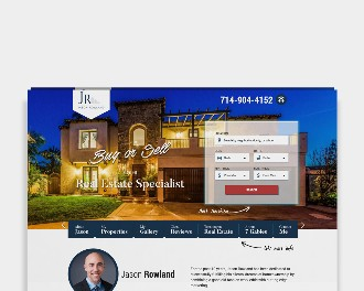 Custom website for Realtor Jason Rowland