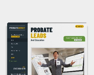 probate lead and education website